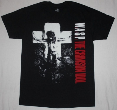 W.A.S.P. CRIMSON IDOL NEW BLACK T-SHIRT