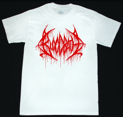 BLOODBATH LOGO NEW WHITE T-SHIRT