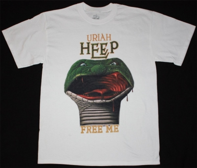 URIAH HEEP FREE ME INNOCENT VICTIM 1977 NEW WHITE T-SHIRT