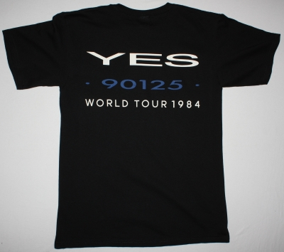 YES 90125 WORLD TOUR NEW BLACK T-SHIRT