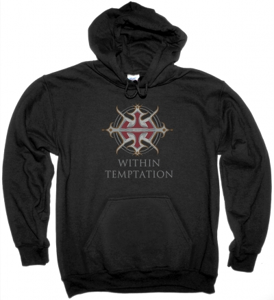 WITHIN TEMPTATION LOGO NEW BLACK HOODIE