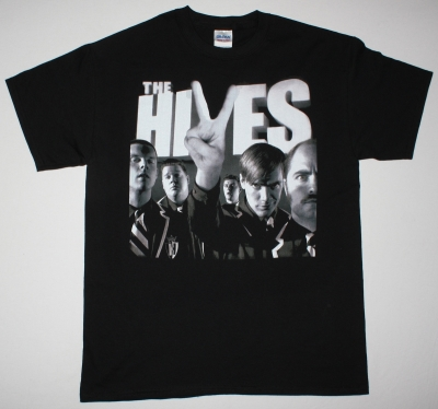 THE HIVES THE BLACK AND WHITE ALBUM NEW BLACK T-SHIRT