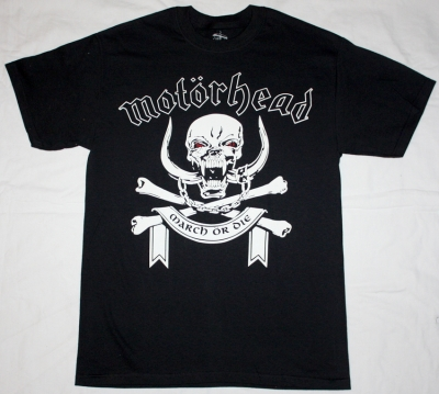 MOTORHEAD MARCH OR DIE NEW BLACK T-SHIRT