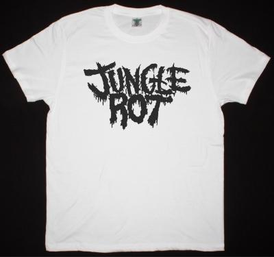 JUNGLE ROT LOGO NEW WHITE T-SHIRT