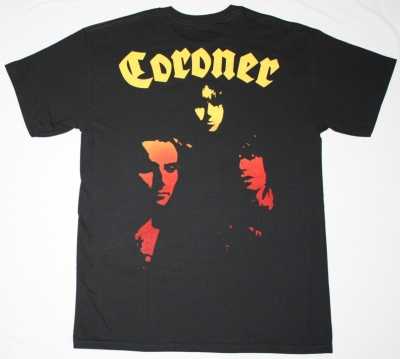 CORONER PUNISHMENT FOR DECADENCE 1988 NEW BLACK T-SHIRT