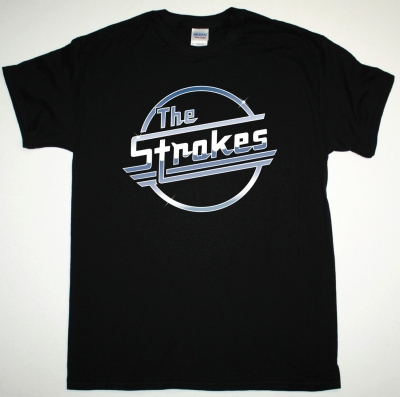 THE STROKES LOGO NEW BLACK T-SHIRT