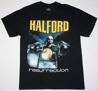 HALFORD RESURRECTION S-XXL NEW BLACK T-SHIRT
