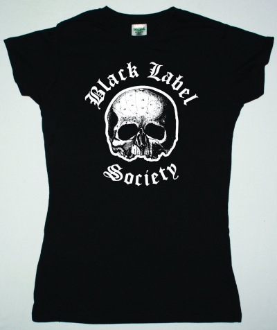 BLACK LABEL SOCIETY LOGO SKULL NEW BLACK LADY T-SHIRT