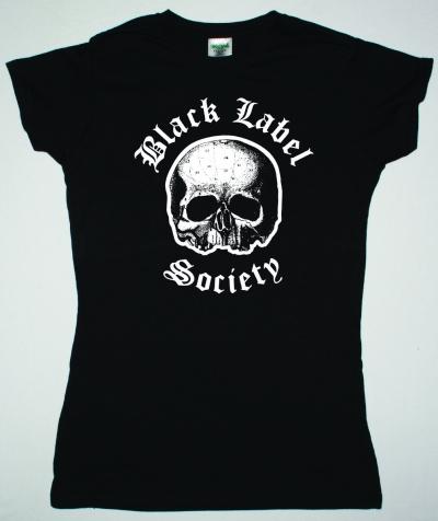 BLACK LABEL SOCIETY LOGO SKULL NEW BLACK LADY T-SHIRT