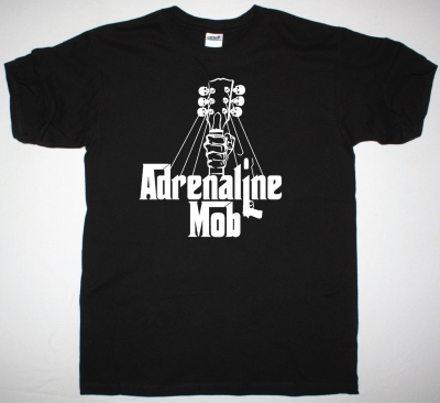 ADRENALINE MOB LOGO NEW BLACK T-SHIRT