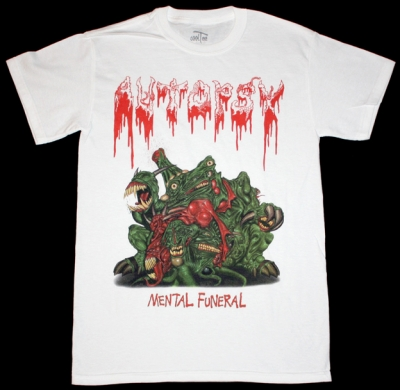 AUTOPSY MENTAL FUNERAL'91 NEW WHITE T-SHIRT
