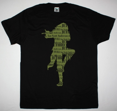JETHRO TULL IAN SCOTT ANDERSON NEW BLACK T-SHIRT