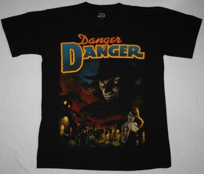 DANGER DANGER NAUGHTY NAUGHTY NEW BLACK T-SHIRT