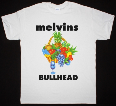 MELVINS BULLHEAD 1991 NEW WHITE T-SHIRT