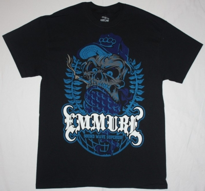 EMMURE SOUND WAVE SUPERIOR NEW BLACK T-SHIRT