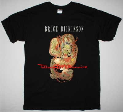BRUCE DICKINSON TATOOED MILLIONAIRE NEW BLACK T SHIRT