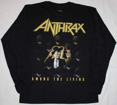 ANTHRAX AMONG THE LIVING'87 NEW BLACK LONG SLEEVE T-SHIRT