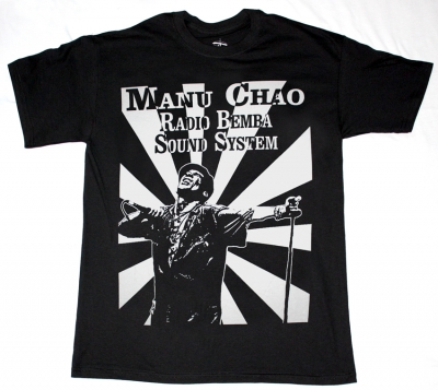 MANU CHAO RADIO BEMBA SOUND SYSTEM  NEW BLACK T-SHIRT