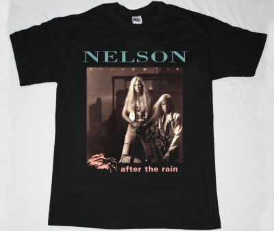 NELSON AFTER THE RAIN 90 NEW BLACK T-SHIRT