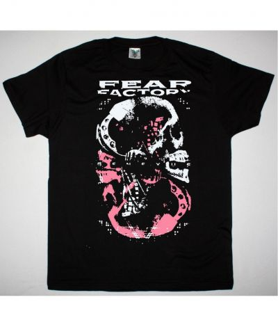 FEAR FACTORY GENEXUS SKULL NEW BLACK T SHIRT