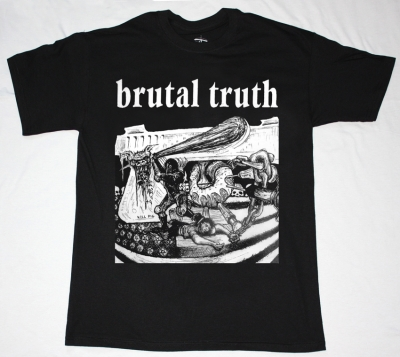 BRUTAL TRUTH KILL PIG  NEW BLACK T-SHIRT