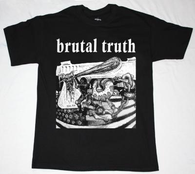BRUTAL TRUTH KILL PIG  NEW BLACK T-SHIRT