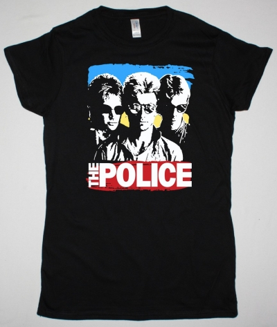 THE POLICE SUNGLASSES NEW BLACK LADY T-SHIRT