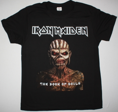 IRON MAIDEN THE BOOK OF SOULS 2015 NEW BLACK T-SHIRT
