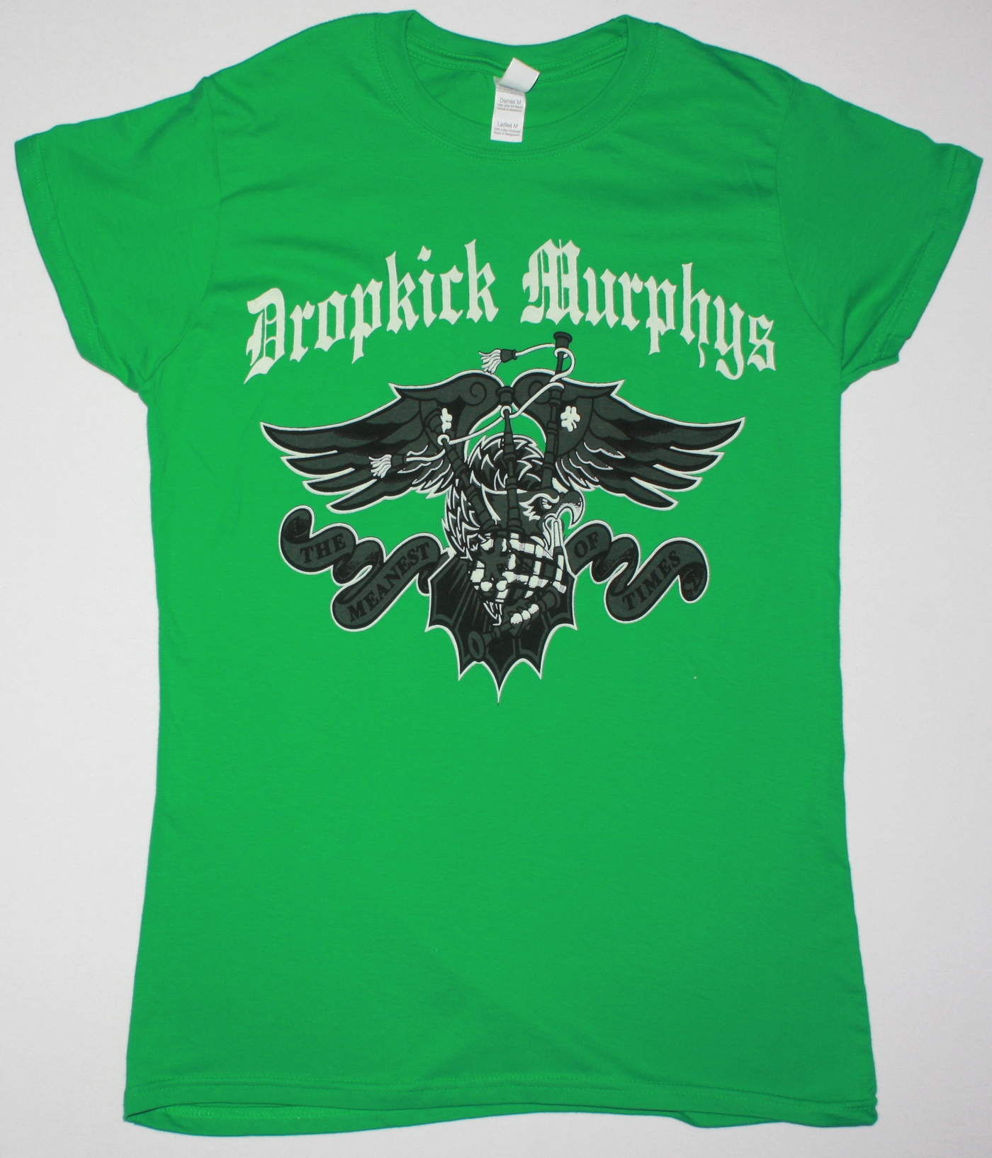 DROPKICK MURPHYS THE MEANEST OF TIMES  NEW GREEN LADY T-SHIRT