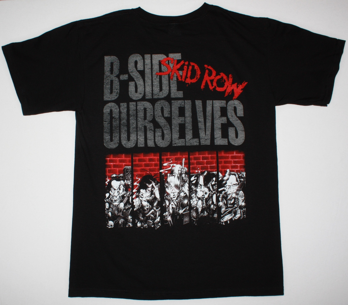 SKID ROW B-SIDE OURSELVES'92 NEW BLACK T-SHIRT