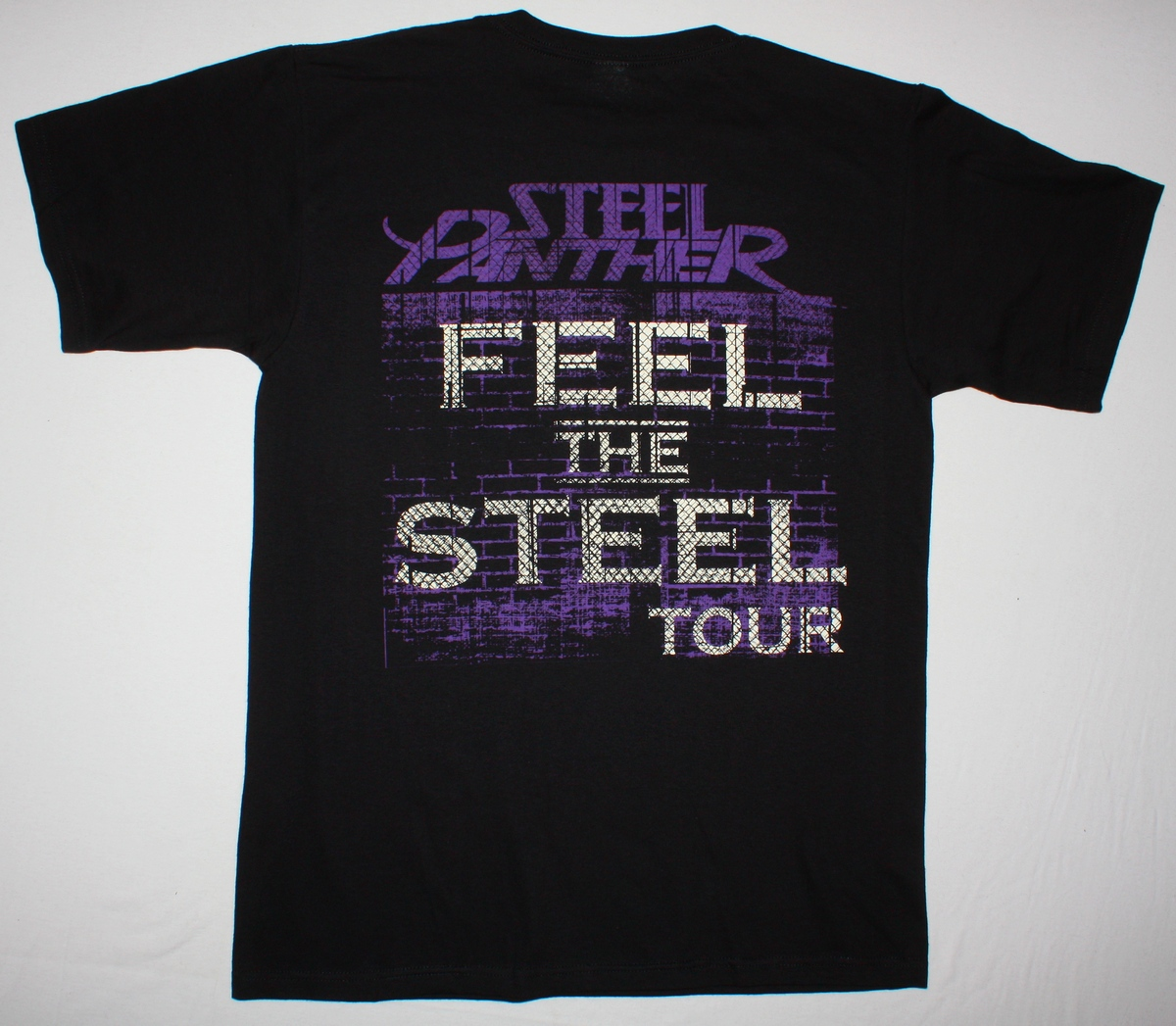 STEEL PANTHER FEEL THE STEEL TOUR NEW BLACK T-SHIRT