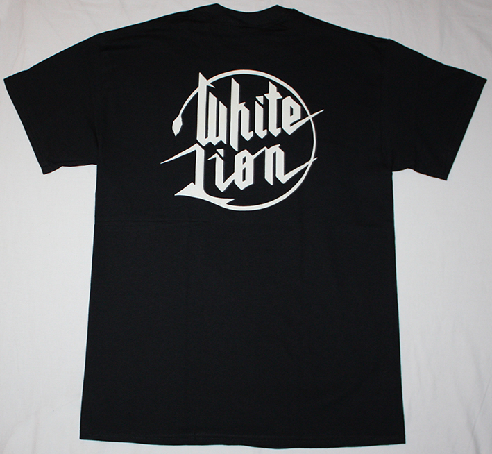 WHITE LION FIGHT TO SURVIVE '85 NEW BLACK T-SHIRT
