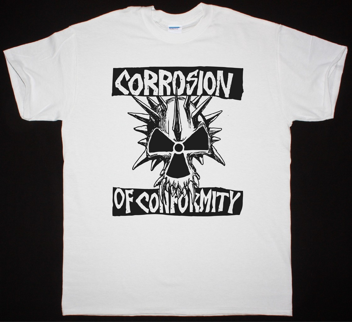 CORROSION OF CONFORMITY EYE FOR AN EYE SKULL NEW WHITE T-SHIRT