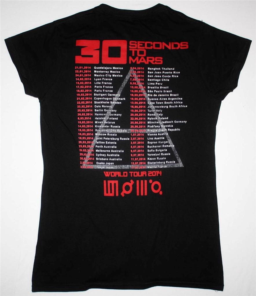 30 SECONDS TO MARS PHOTO WORLD TOUR 2014 LADY T-SHIRT