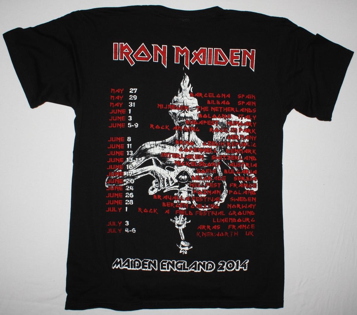 IRON MAIDEN MAIDEN ENGLAND TOUR 2014 NEW BLACK T-SHIRT