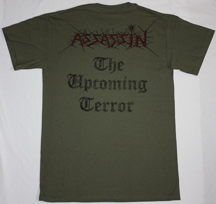 ASSASSIN THE UPCOMING TERROR'86  NEW KAKHI T-SHIRT
