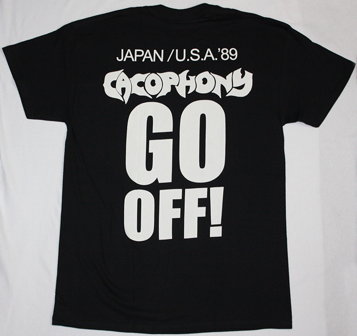 CACOPHONY GO OFF!  1988 MARTY FRIEDMAN JASON BECKER NEW BLACK T-SHIRT