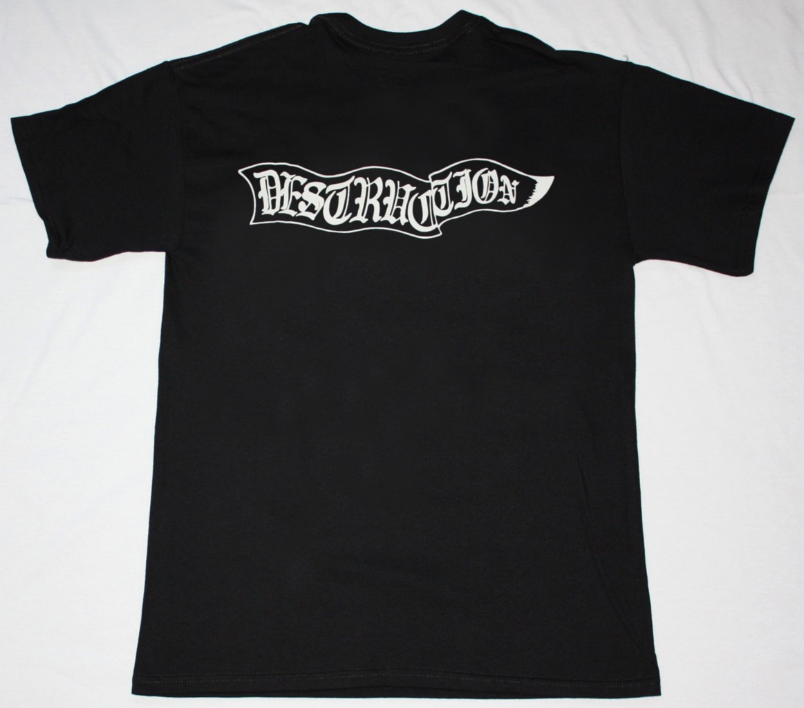 DESTRUCTION SENTENCE OF DEATH'84  NEW BLACK T-SHIRT