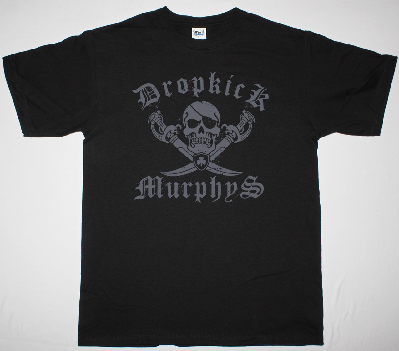 DROPKICK MURPHYS JOLLY ROGER NEW BLACK T-SHIRT