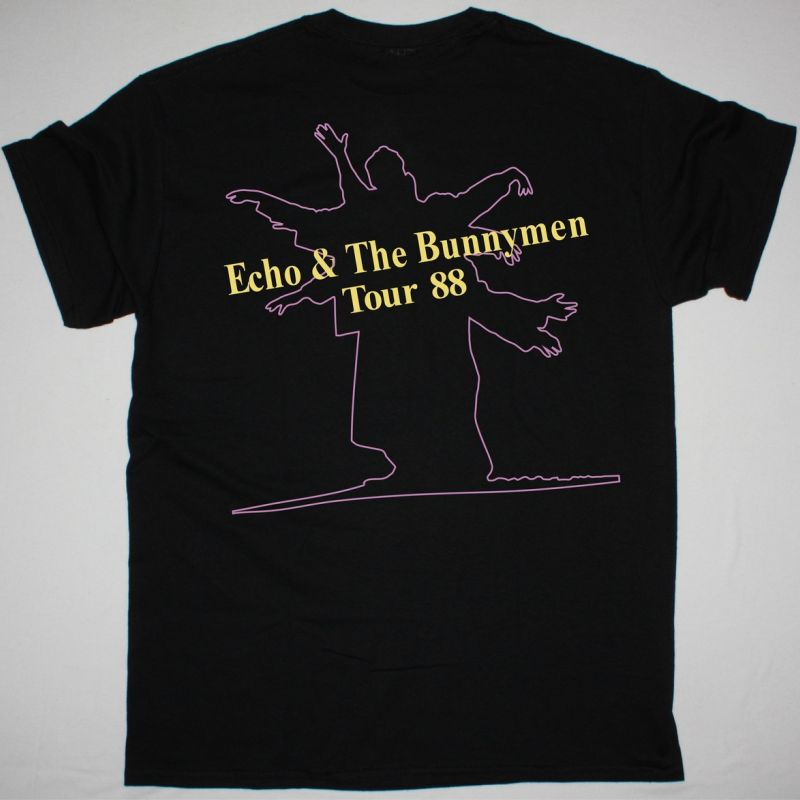 ECHO AND THE BUNNYMEN TOUR 88 NEW BLACK T SHIRT