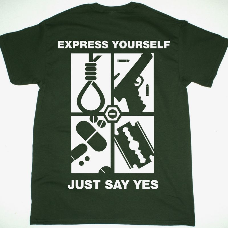 TYPE O NEGATIVE EXPRESS YOURSELF NEW FOREST GREEN T-SHIRT