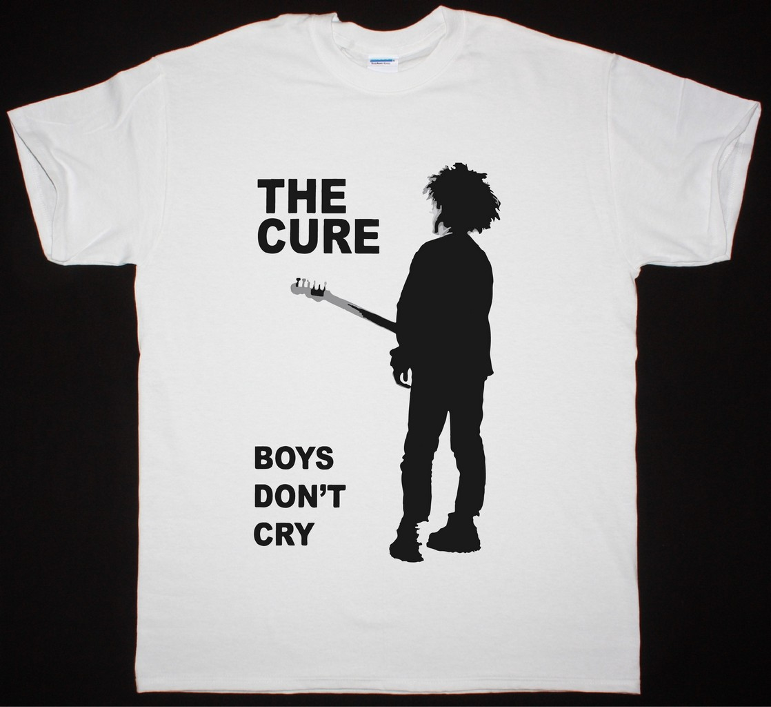 THE CURE BOYS DON'T CRY NEW WHITE T-SHIRT