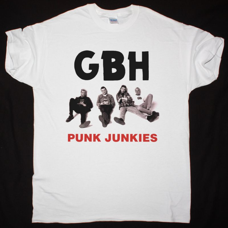 GBH PUNK JUNKIES NEW WHITE T SHIRT