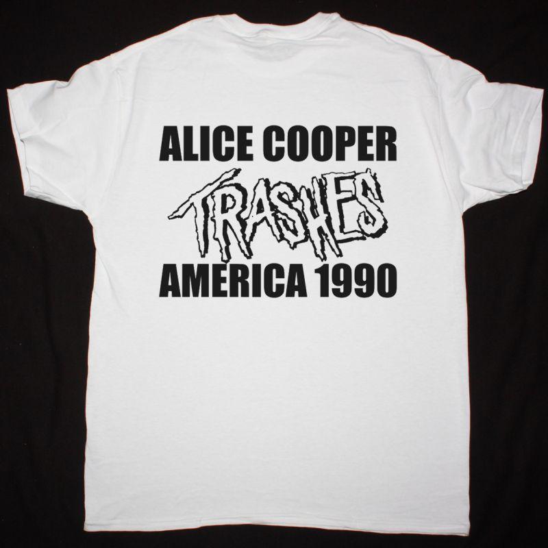 ALICE COOPER TRASH NEW WHITE T SHIRT