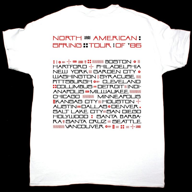 THE CULT NORTH AMERICAN SPRING TOUR 1986 NEW WHITE T-SHIRT