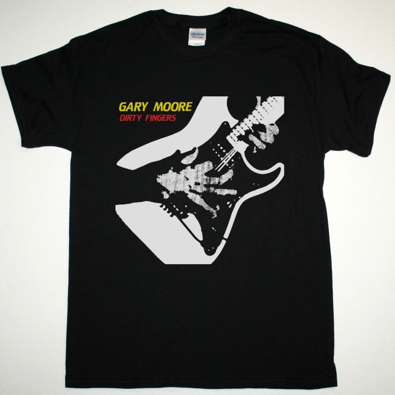 GARY MOORE DIRTY FINGERS NEW BLACK T-SHIRT