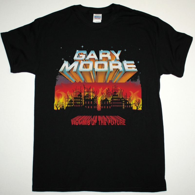 GARY MOORE VICTIMS OF THE FUTURE 1983 NEW BLACK T-SHIRT