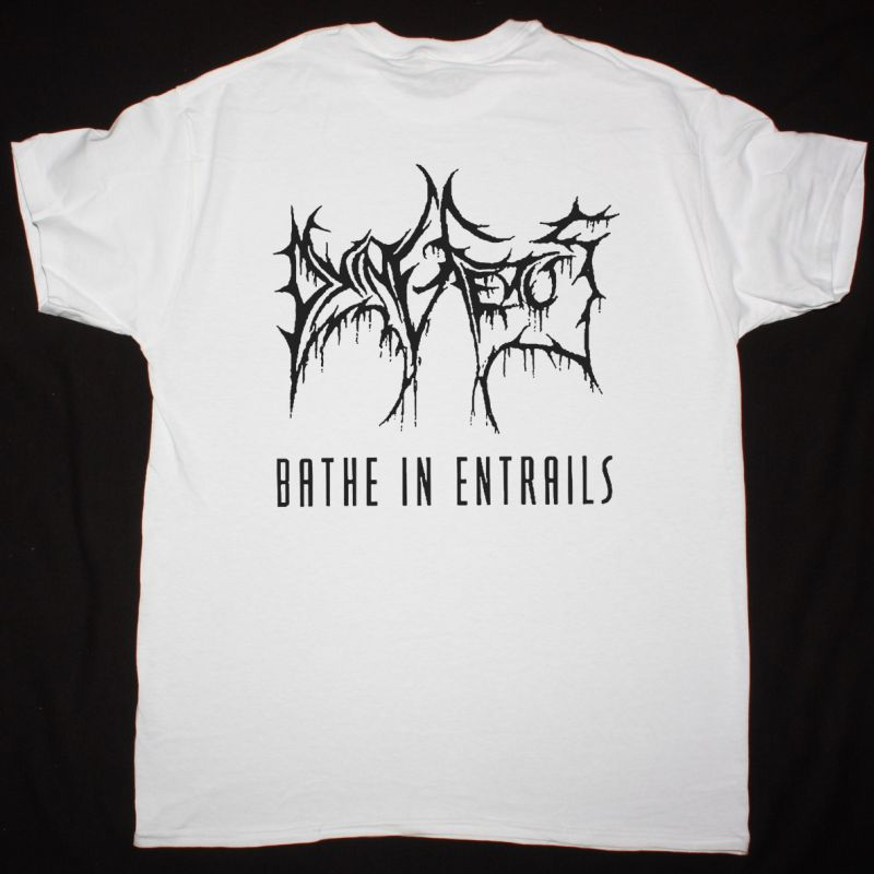 DYING FETUS BATHE IN ENTRAILS 1993 NEW WHITE T-SHIRT