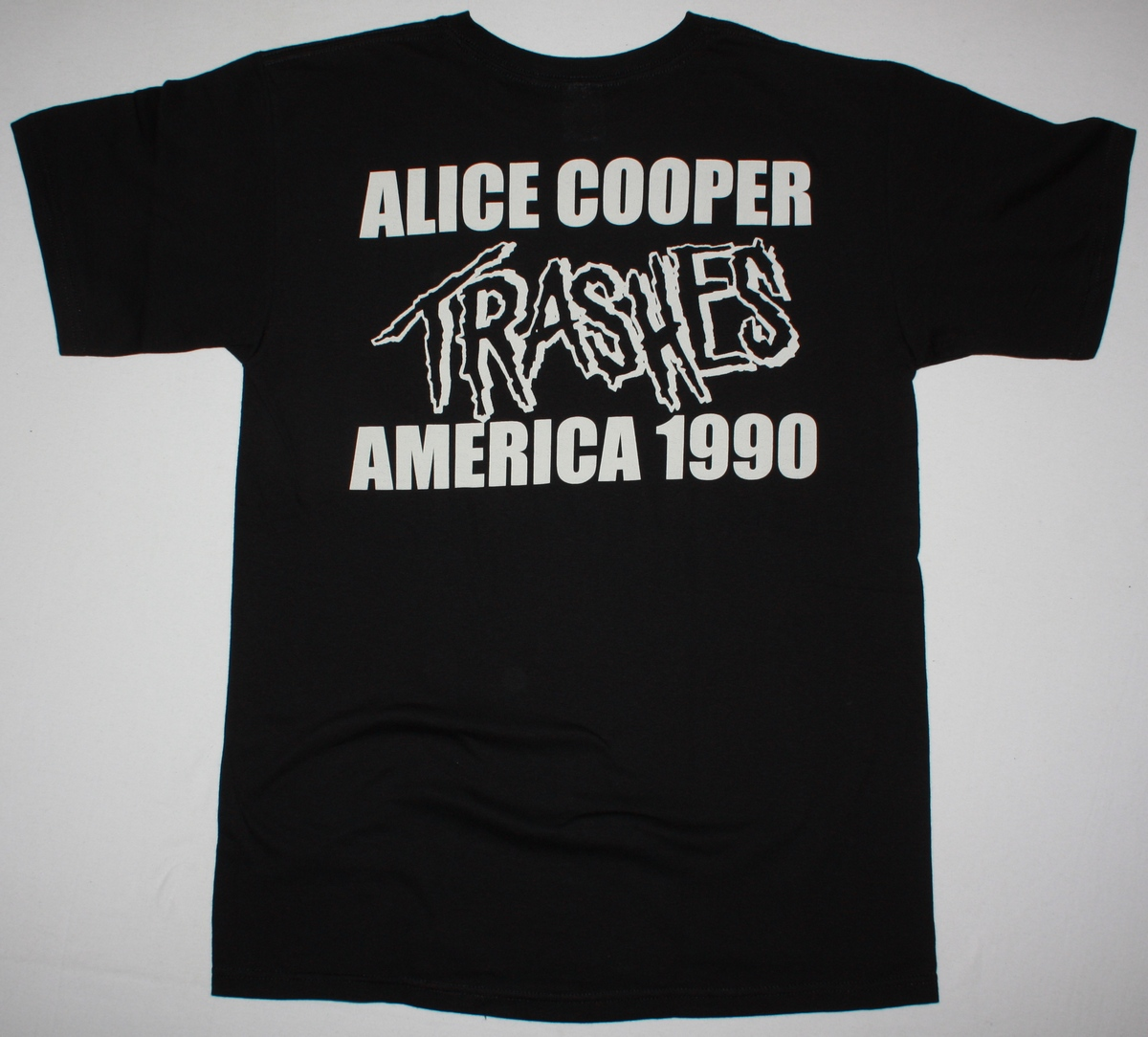 ALICE COOPER TRASH NEW BLACK T SHIRT