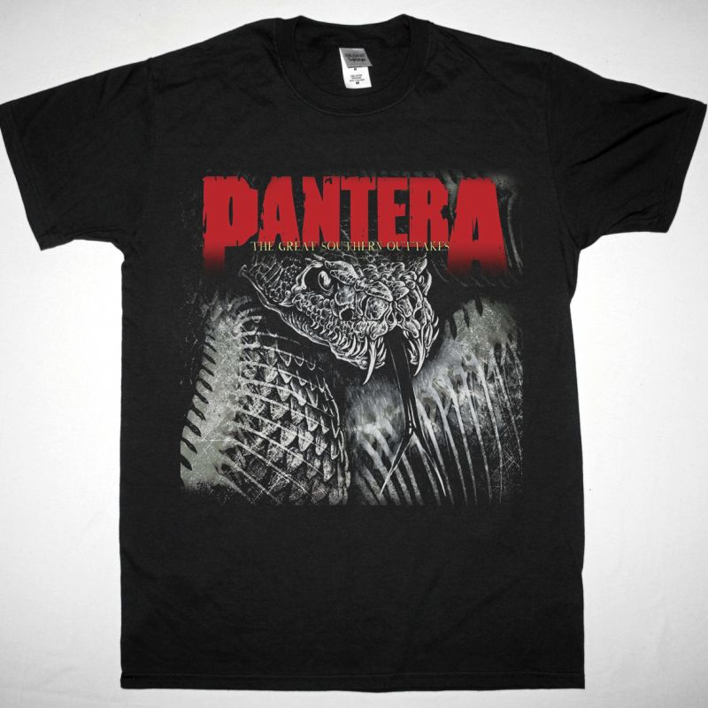 PANTERA THE GREAT SOUTHERN OUTTAKES NEW BLACK T-SHIRT